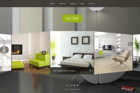 interior design website template 788x492