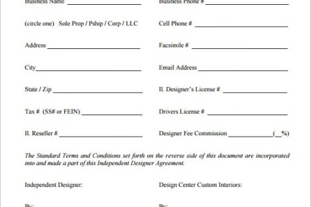interior designer contract template pdf format download