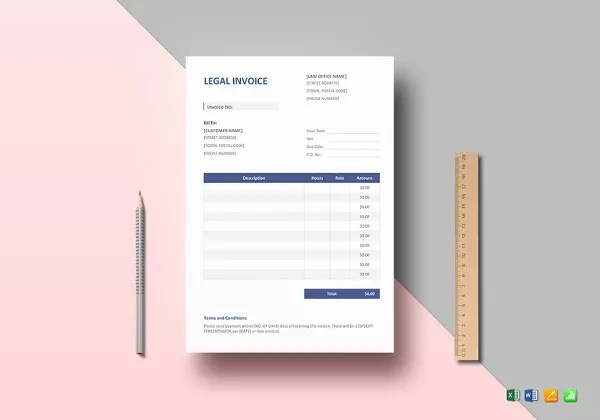 10  Legal Invoice Templates   DOC  PDF   Free   Premium Templates Legal Invoice Template