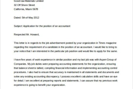 word document cover letter