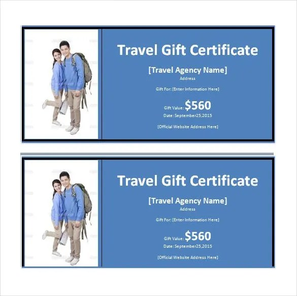 Travel Gift Certificate Template Free Images Template Design Free