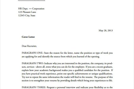 header of a cover letter