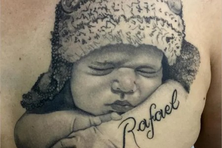 cool baby tattoo design
