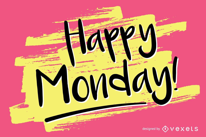 Amazing User Handwritten Happy Monday Design Vector Download Happy Monday Fall Pics Happy Monday Morning Pics bark post Happy Monday Pics