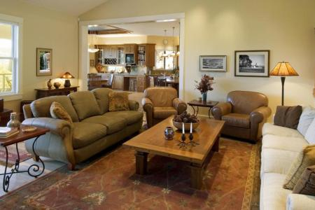 inside of home with furniture