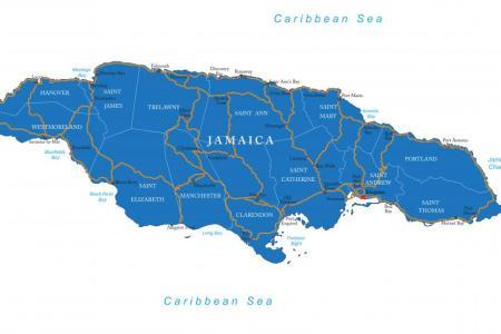 jamaica on map