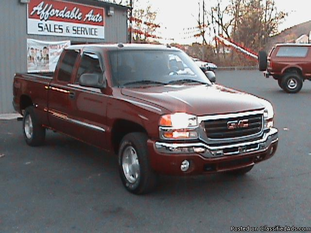 2004 GMC SIERRA 1500 EXT CAB 4DR 4X4 MAROON GUARANTEED FINANCING     2004 GMC SIERRA 1500 EXT CAB 4DR 4X4 MAROON GUARANTEED FINANCING   Price   12800