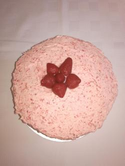 Small Of Strawberry Mousse Cake