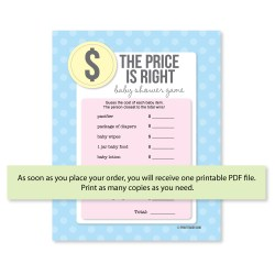 Smartly Printable Price Is Right Baby Shower Game Print Itbaby Printable Price Is Right Baby Shower Game Price Is Right Baby Shower Game How To Play Price Is Right Baby Shower Game Directions baby shower Price Is Right Baby Shower Game