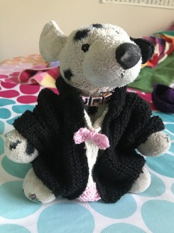 Tuxedo Tails for Dog modeled
