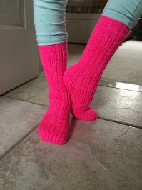 Neon Pink Tube socks take 2