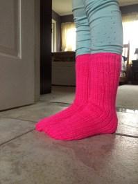 Neon Pink Tube Socks