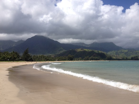 Hanalei Bay in Kauai   -- Photo by Brooks Robinson