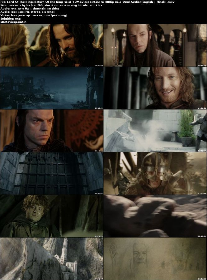 Screen Shots The Lord of the Rings: The Return of the King 2003 Full HD Movie Download Dual Audio Free