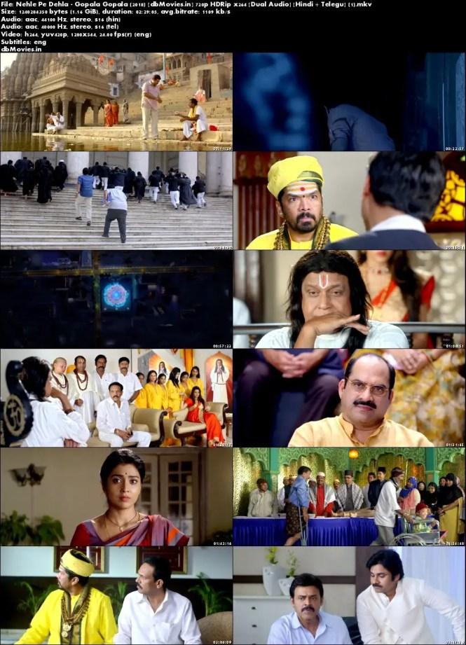 Screen Shots Nehle Pe Dehla – Gopala Gopala 2018 Download Hindi Dubbed Free 720p