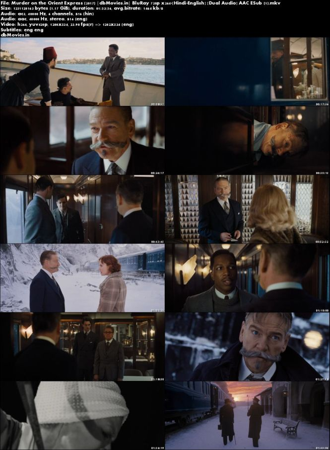 Screen Shots Murder on the Orient Express (2017) Full Movie Download Dual Audio 720p