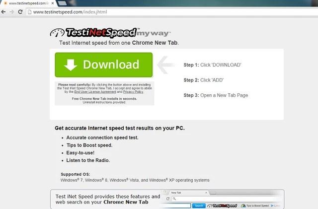 Test iNet Speed toolbar