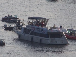 This boat was detained by coast guard just for the sign