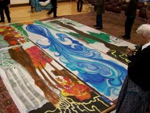 Silk painting Installation at HAUMC