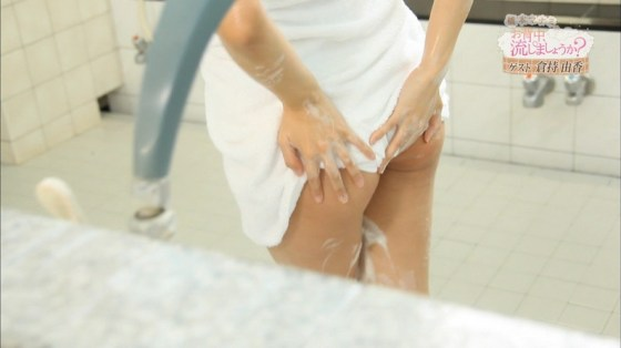 【温泉キャプ画像】温泉番組でやっぱり一番期待するのは女性タレントのハミ乳だよなww 22