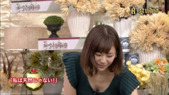 【胸ちらキャプ画像】豊満なオッパイをテレビで見せつけてくるタレントたちww 12