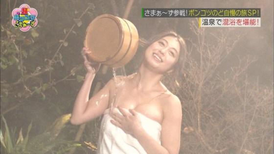 【温泉キャプ画像】この季節こんな巨乳の美人なタレントさんと一緒にお風呂入れたら最高だろうなw 12
