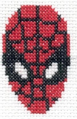 Схема вышивки крестиком человек паук 24