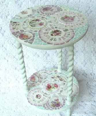 декорирование мебели мозаикой