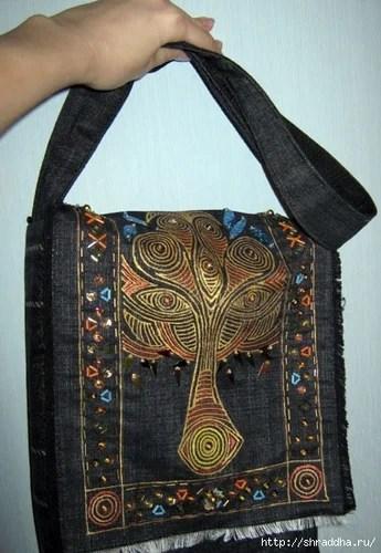 сумка хендмейд с росписью