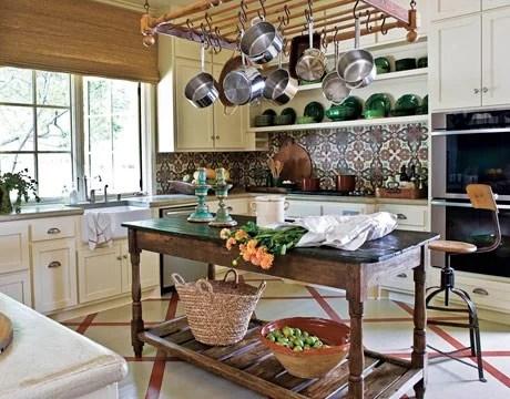 интерьер кухни в сельском стиле