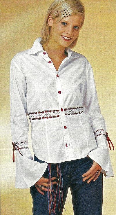 как украсить блузку своими руками