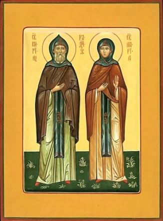 Преподобные Кирилл и Мария