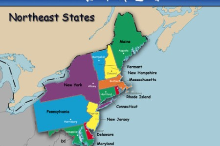 pics photos map of eastern us states with capitals