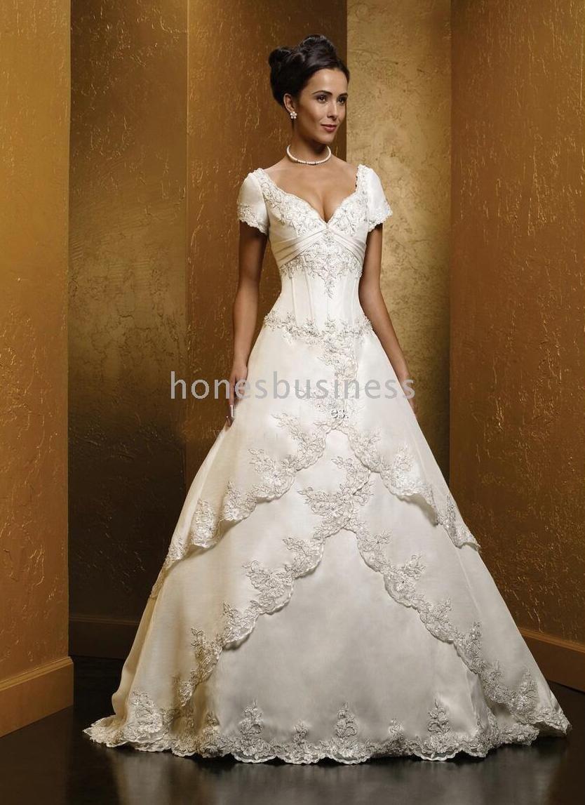 elegant wedding dresses with short sleeves short sleeve wedding dress Short Sleeve Wedding Dresses Dress Fa