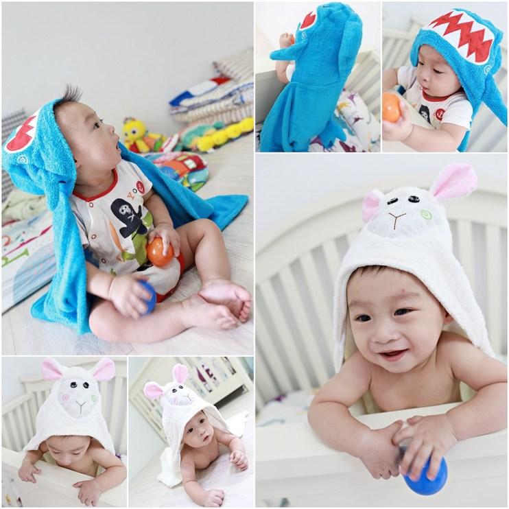 【Baby】我要全部蒐集完!!! ZOOCCHiNi可愛動物連帽浴巾/保暖毯(10/23結團)