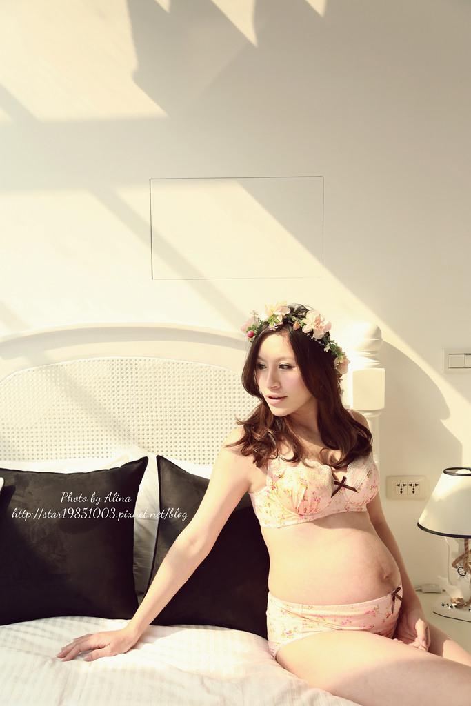 【孕。內衣】成為最甜美夢幻系的孕婦~♥MAMAGIRL蕾絲印花鋼圈內衣