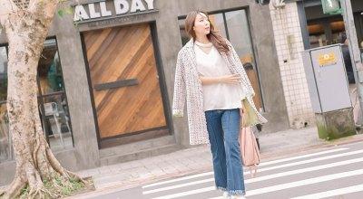 【一日穿搭】輕便的奢華優雅❤小香風外套X丹寧X白鞋穿搭