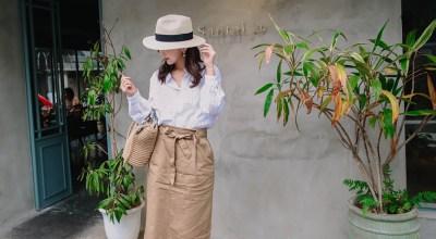 【穿搭】2018春季4月穿搭回顧.棉麻、草帽、瘦瘦褲、穆勒鞋
