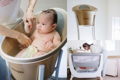 【育兒】輕鬆優雅不費力幫寶貝洗澡的英國Shnuggle月亮澡盆X超美又輕巧的Air成長型床邊嬰兒床