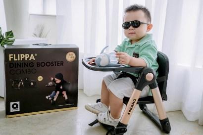 【育兒】全世界首賣!每家都必備一張超輕盈萬用的Apramo Flippa可攜式折疊餐椅:尊爵魔法金