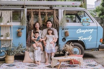 【家庭寫真】浪漫又充滿波希米亞風的露營車戶外寫真~邊玩邊拍的自然風格