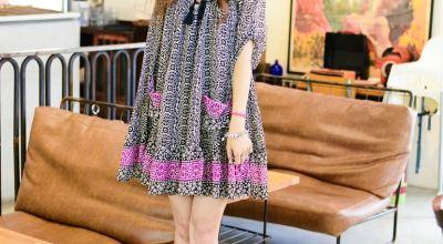 ▌海外購物 ▌趁著大打折入手Free People波西米雅風洋裝♥紫黑雪紡♥