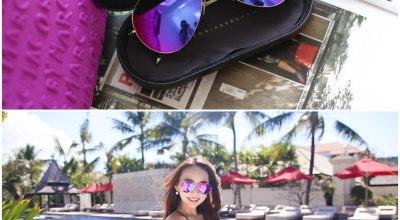 【配件】讓人難以忽視的Victoria Beckham水銀桃紫,超輕無感帥氣墨鏡♡