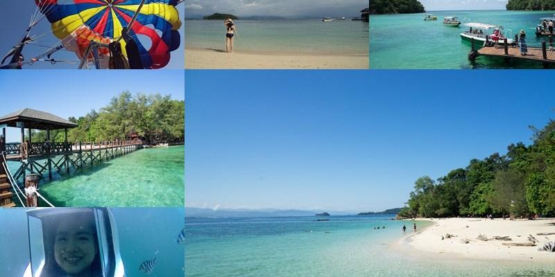 馬來西亞沙巴跳島一日遊行程|沙比島(SAPI)馬奴干島(MANUKAN),拖曳傘、海底漫步,必訪馬來西亞沙巴藍天大海美麗海島。