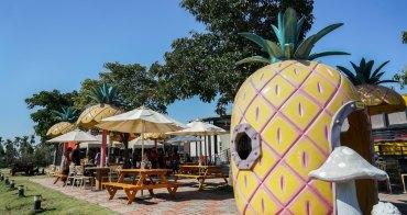 桂花田糕點主題休閒園區 南投139縣道的路旁大鳳梨園區,金牛角麵包也相當有特色,139縣道桂花鳳梨酥烘焙店。