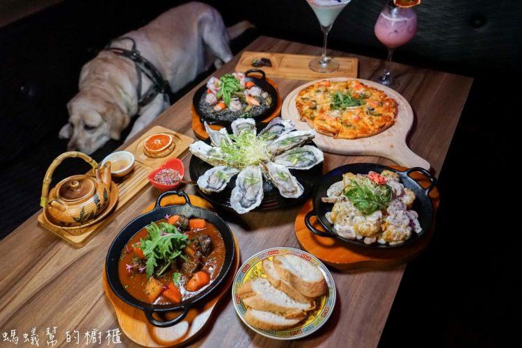 台中雙囍餐酒館|大紅色雙喜裝飾,宵夜場放鬆小酌,中式風搭配西洋風特色美食搭配,獨樹一格特色餐酒館。