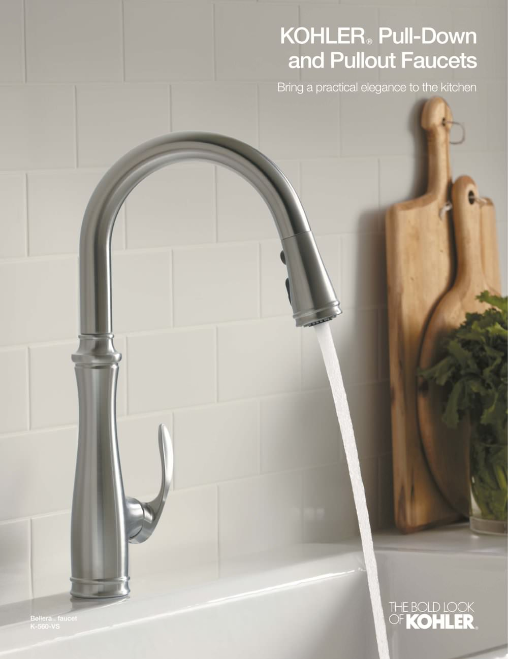 kohler faucets kitchen Kitchen Faucet Brochure Pulldown Pullout 1 4 Pages