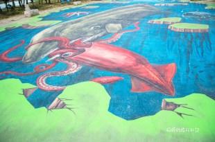  嘉義‧布袋 好美里社區,全台最大3D地景彩繪,3D立體海洋彩繪村