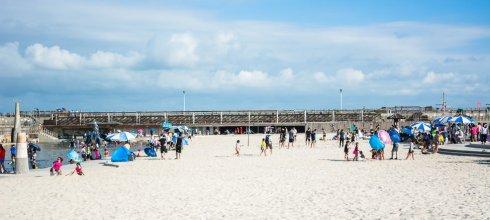 |嘉義景點|東石漁人碼頭,夏日玩水好去處,超大沙坑和噴水池讓人玩到欲罷不能