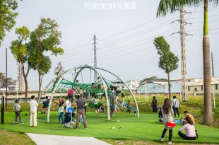 |特色公園|阿猴1909綠水園區(台糖縣民公園),屏東第一座共融式遊戲場